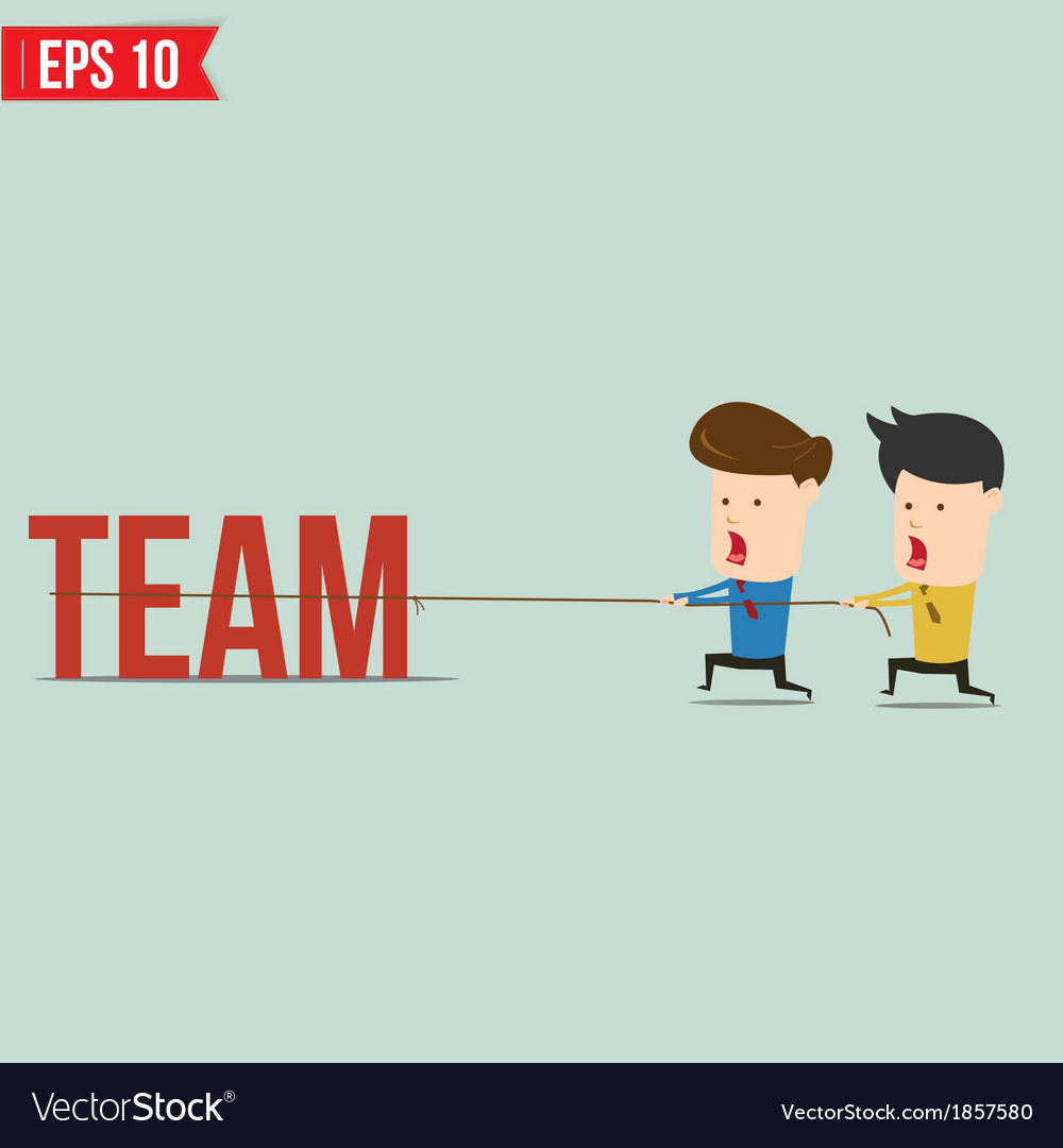 Two businessmen playing tug of war pull business vector   Price: 1 Credit (USD $1)