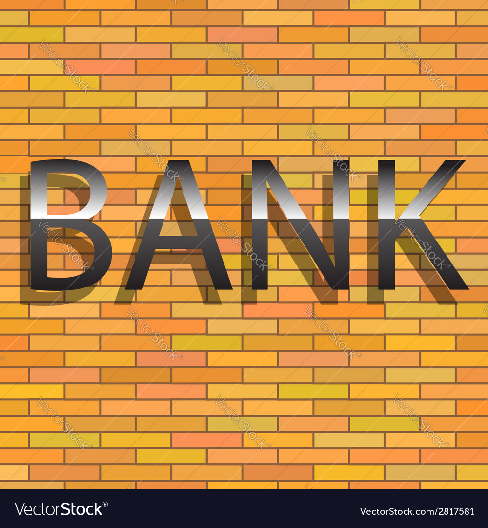 Bank sign vector | Price: 1 Credit (USD $1)