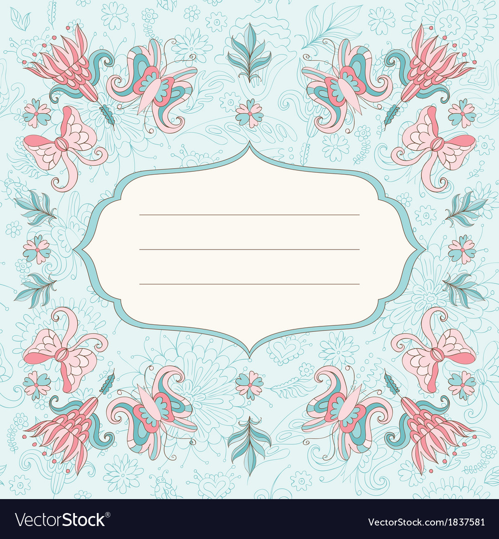 Beautiful holiday card vector | Price: 1 Credit (USD $1)