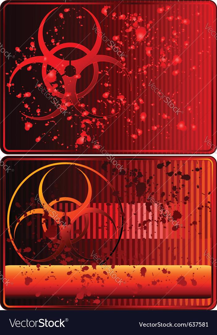 Biohazard sign vector | Price: 1 Credit (USD $1)