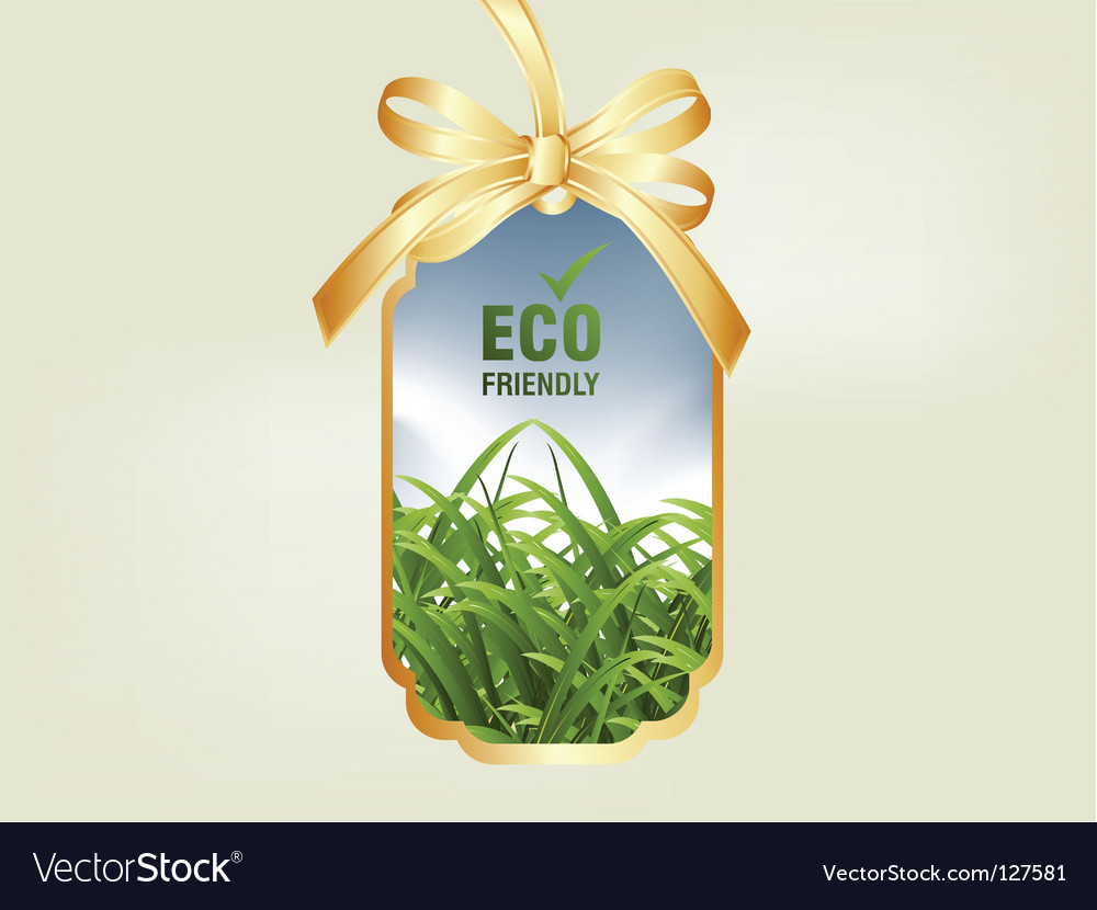 Ecology tag vector | Price: 1 Credit (USD $1)