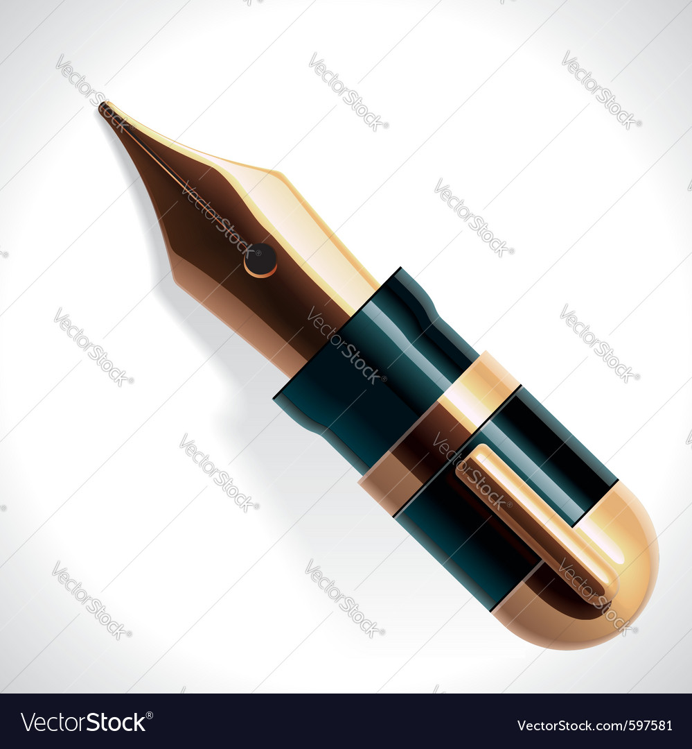Fountain pen vector | Price: 3 Credit (USD $3)