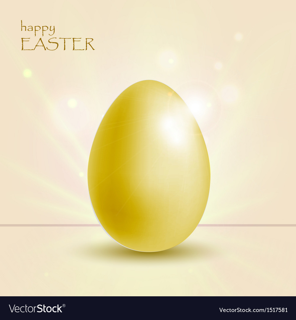 Holiday background with easter gold egg vector | Price: 1 Credit (USD $1)