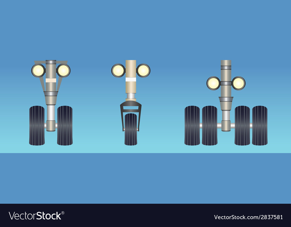 Landing gears vector | Price: 1 Credit (USD $1)