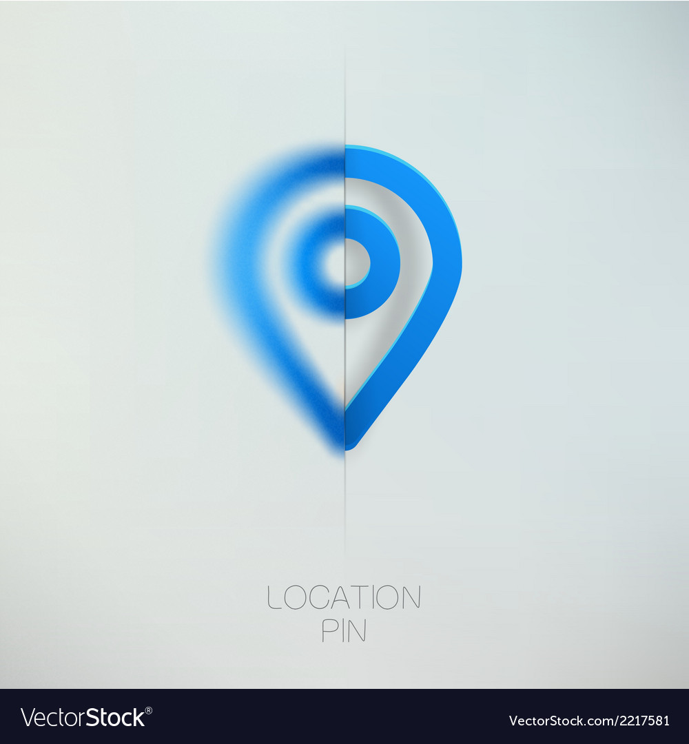 Map marker blue location pin vector | Price: 1 Credit (USD $1)