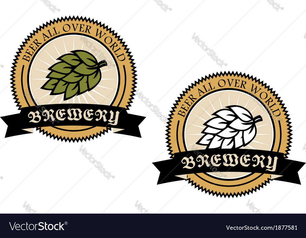 Two circular brewery labels vector | Price: 1 Credit (USD $1)
