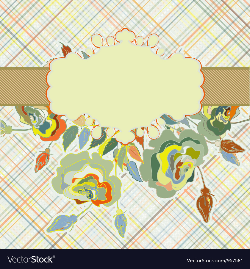 Vintage flower pattern floral template eps 8 vector | Price: 1 Credit (USD $1)