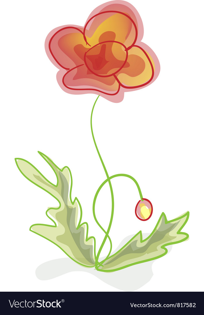A flower imitation of childrens drawings vector | Price: 1 Credit (USD $1)