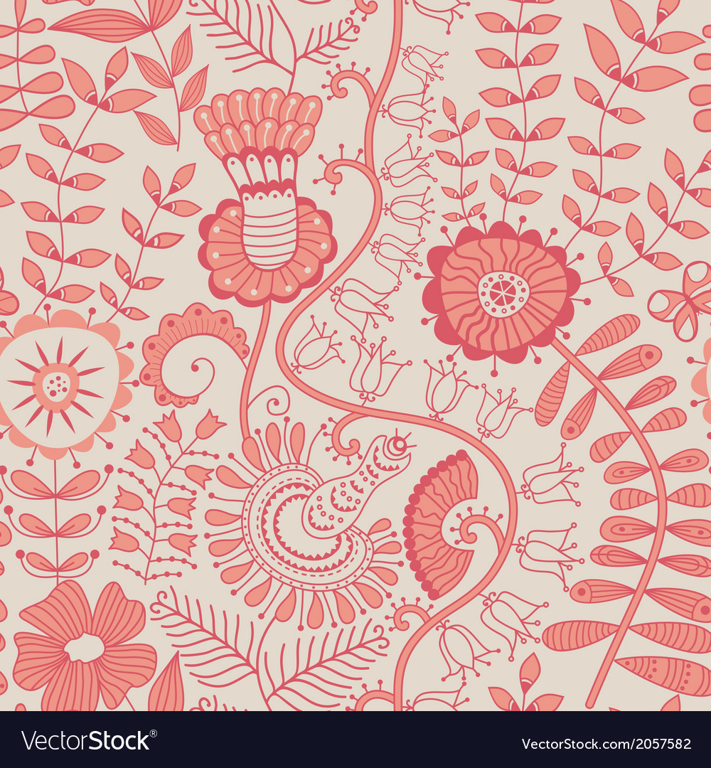 Abstract floral background summer theme seamless vector   Price: 1 Credit (USD $1)