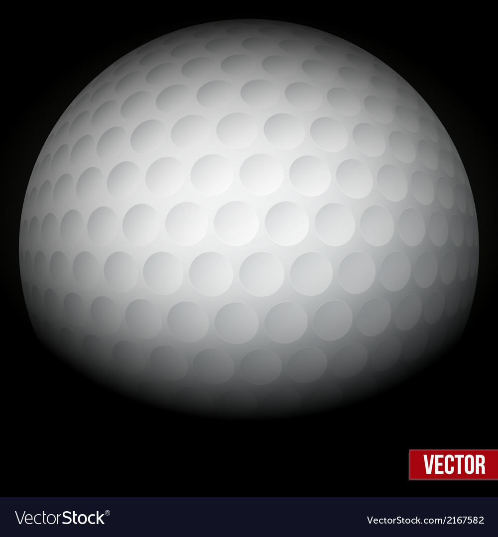 Background of traditional golf ball vector | Price: 1 Credit (USD $1)