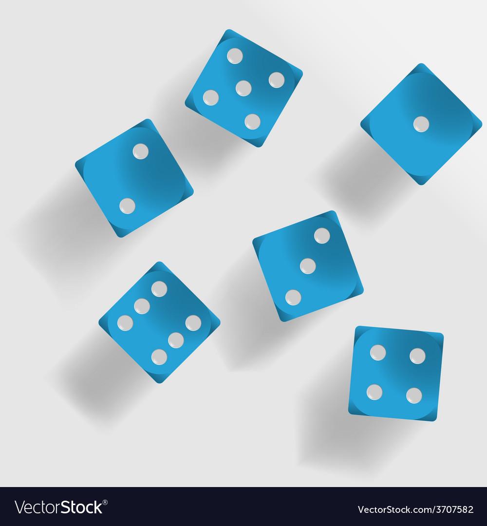 Blue dice vector | Price: 1 Credit (USD $1)