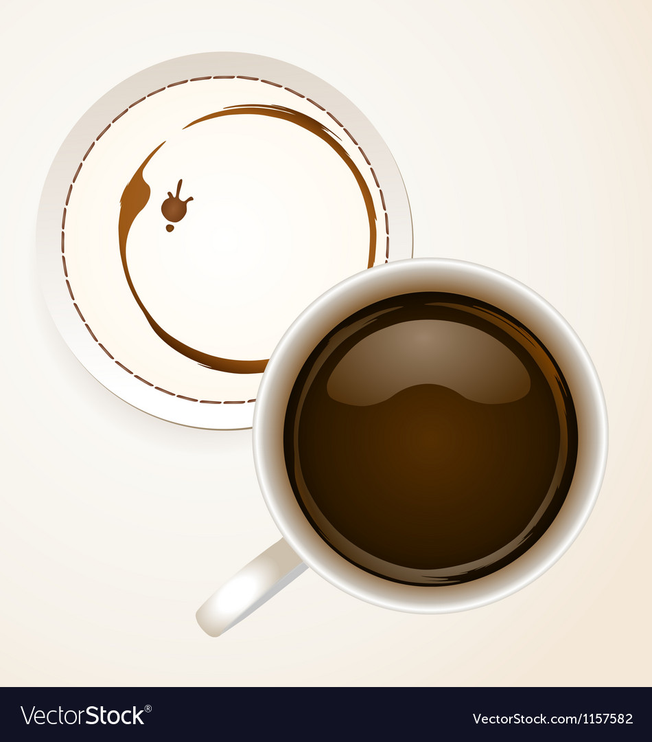 Coffee with coaster paper vector | Price: 1 Credit (USD $1)