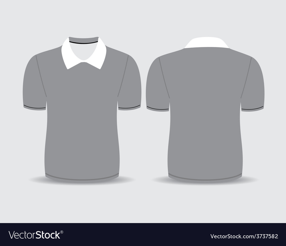 Gray polo t shirt vector | Price: 1 Credit (USD $1)