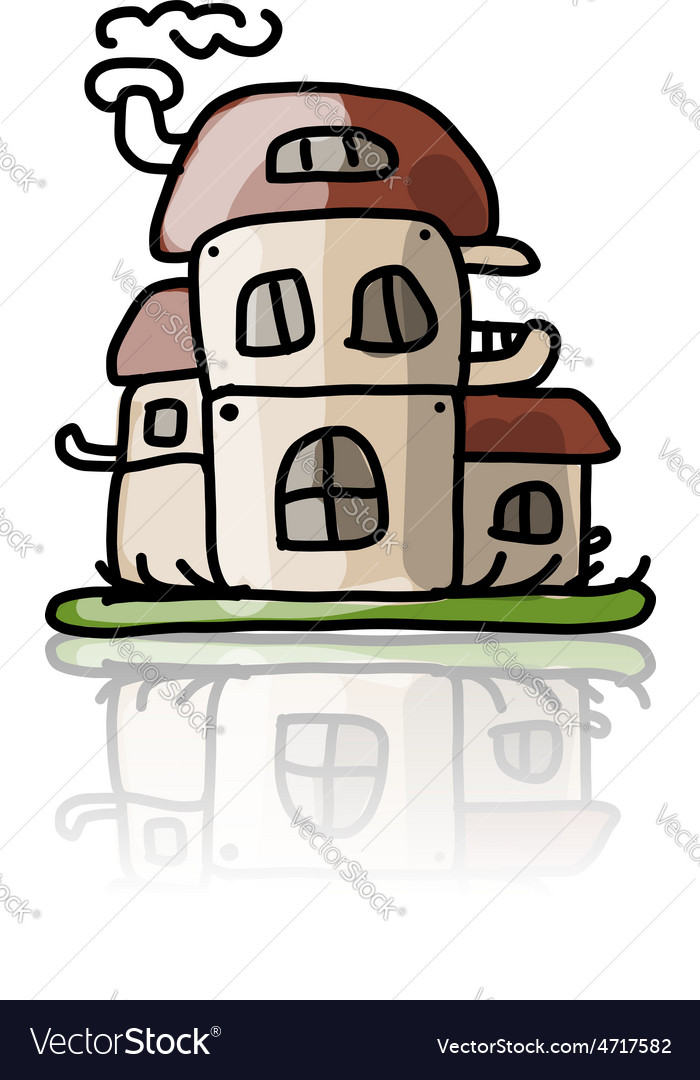House icon sketch for your design vector | Price: 1 Credit (USD $1)