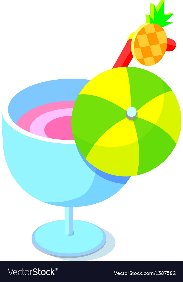 Icon cocktail vector   Price: 1 Credit (USD $1)