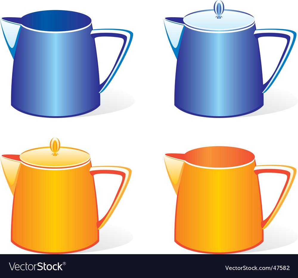 Milk jugs set vector | Price: 1 Credit (USD $1)