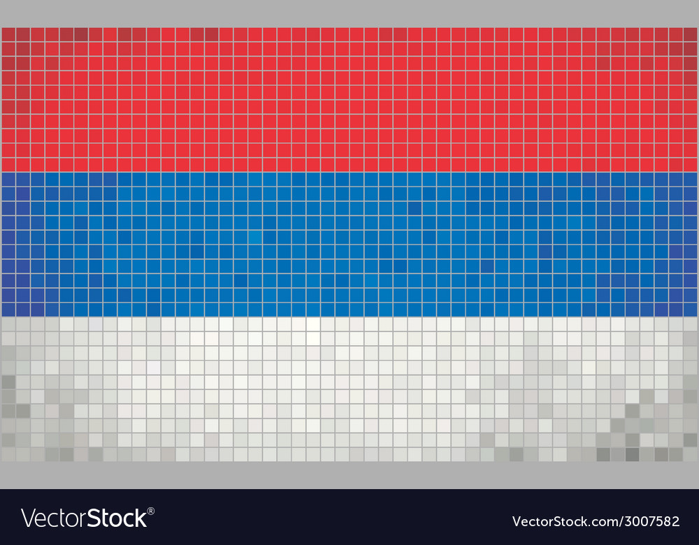 Mosaic flag of serbia vector | Price: 1 Credit (USD $1)