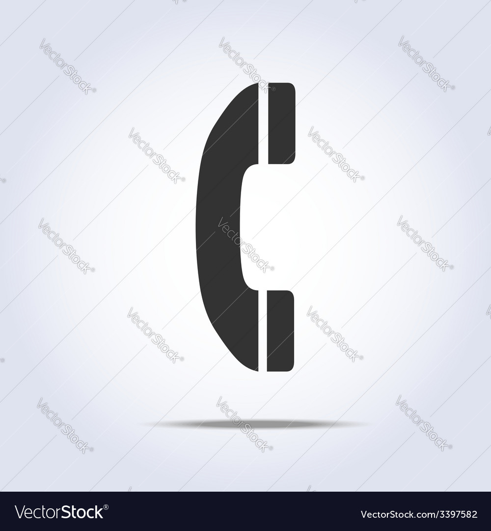 Phone handset icon vector | Price: 1 Credit (USD $1)