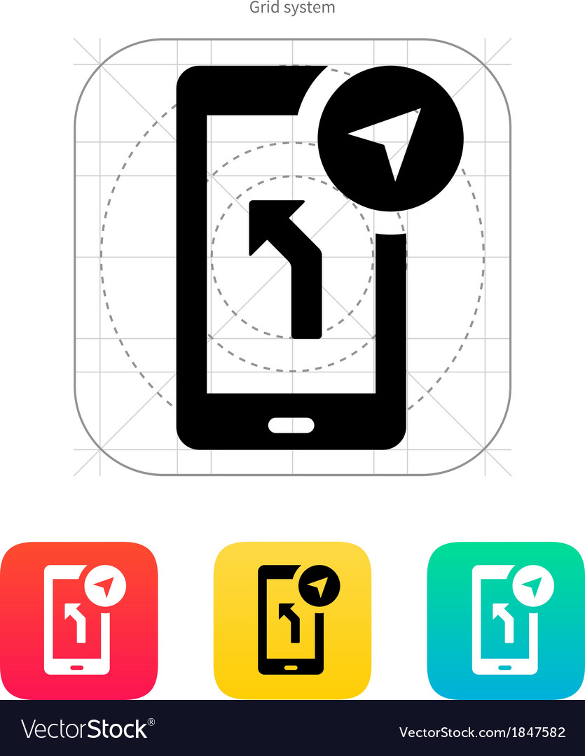 Road navigator icon vector | Price: 1 Credit (USD $1)