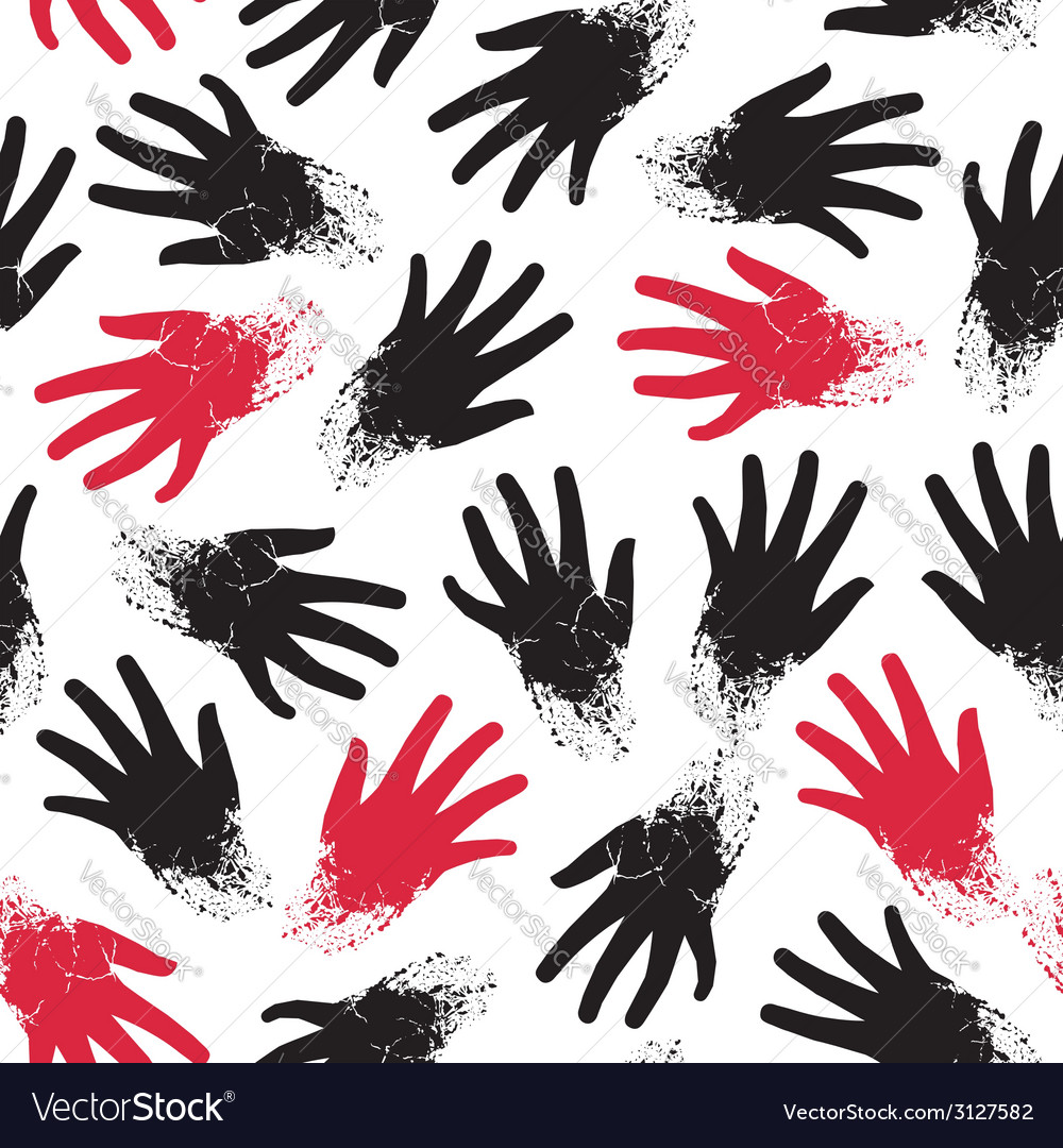 Seamless pattern of the hands vector   Price: 1 Credit (USD $1)