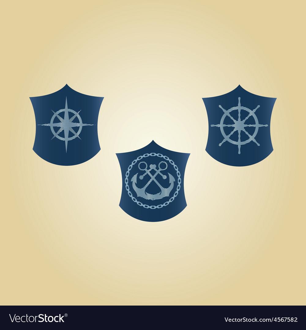 Set of maritime symbols vector | Price: 1 Credit (USD $1)