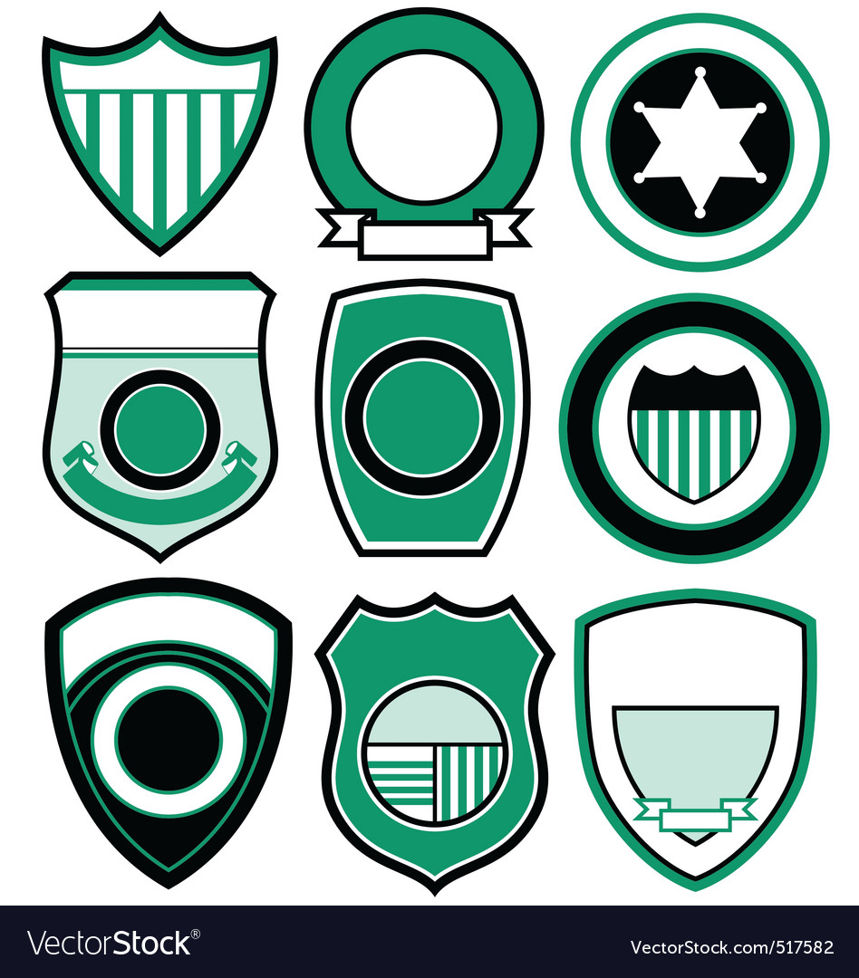Simple patch badge vector | Price: 1 Credit (USD $1)
