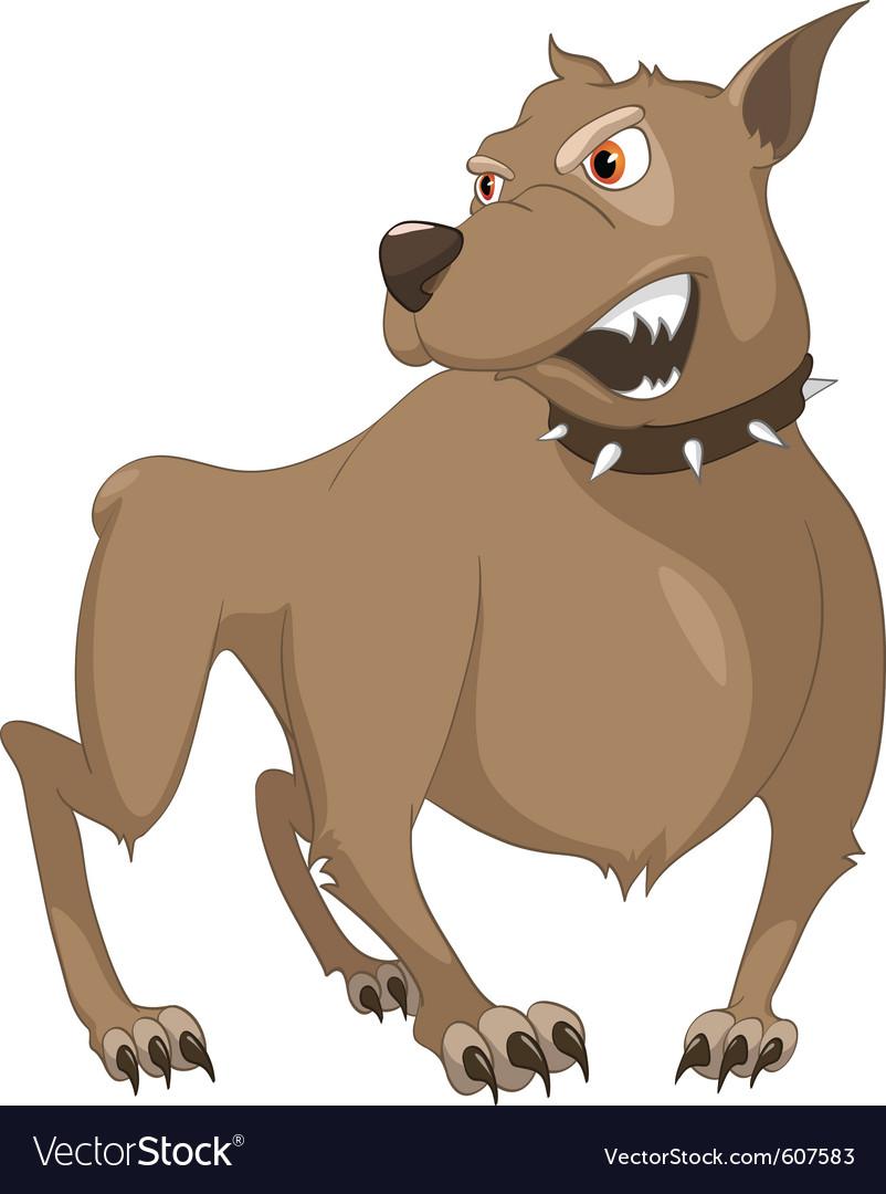 Angry dog cartoon vector | Price: 3 Credit (USD $3)