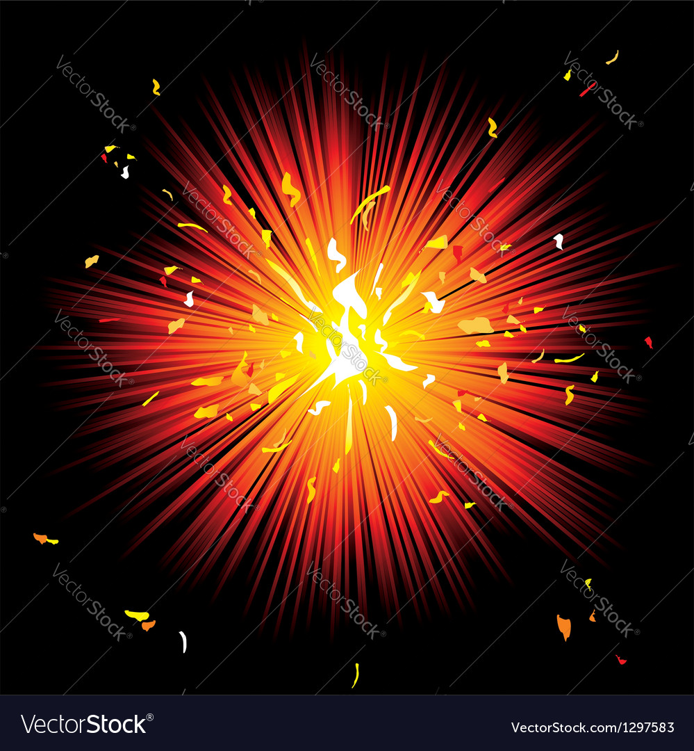 Beautiful fireworks on black background vector | Price: 1 Credit (USD $1)