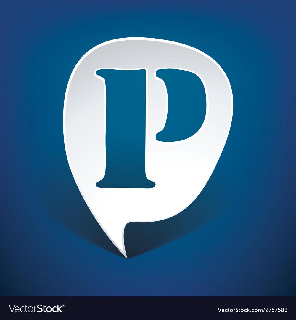 Bubble speech letter p vector | Price: 1 Credit (USD $1)