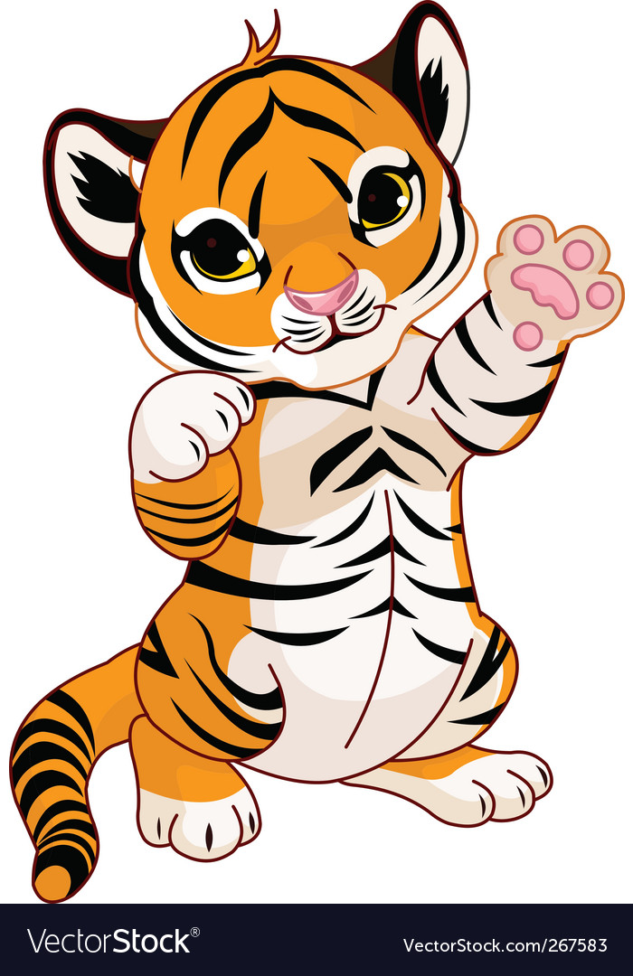 Cute tiger cub vector | Price: 3 Credit (USD $3)