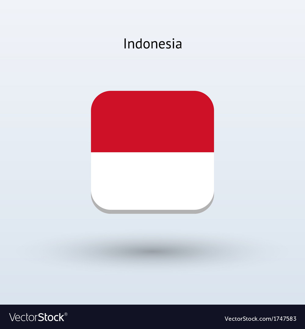 Indonesia flag icon vector | Price: 1 Credit (USD $1)