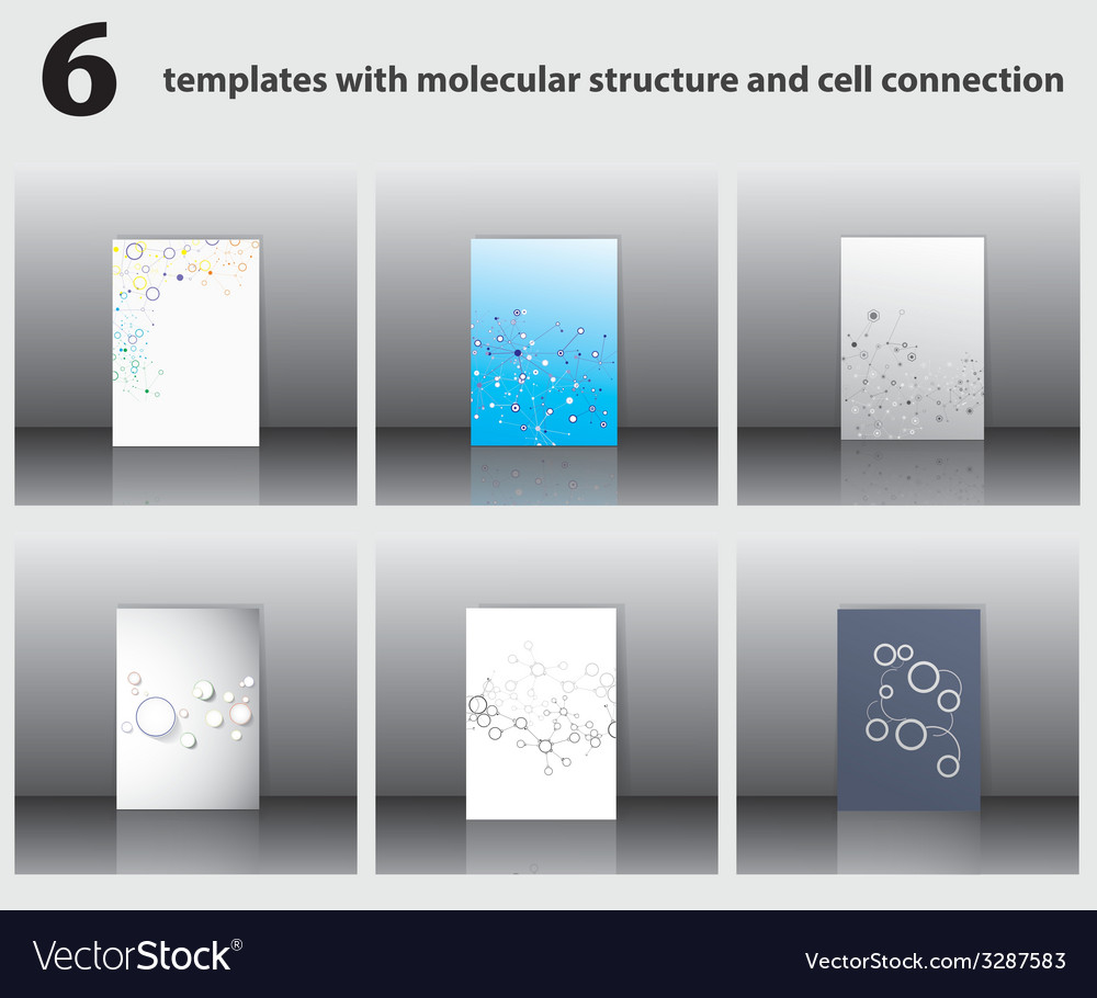 Molecular structures vector | Price: 1 Credit (USD $1)