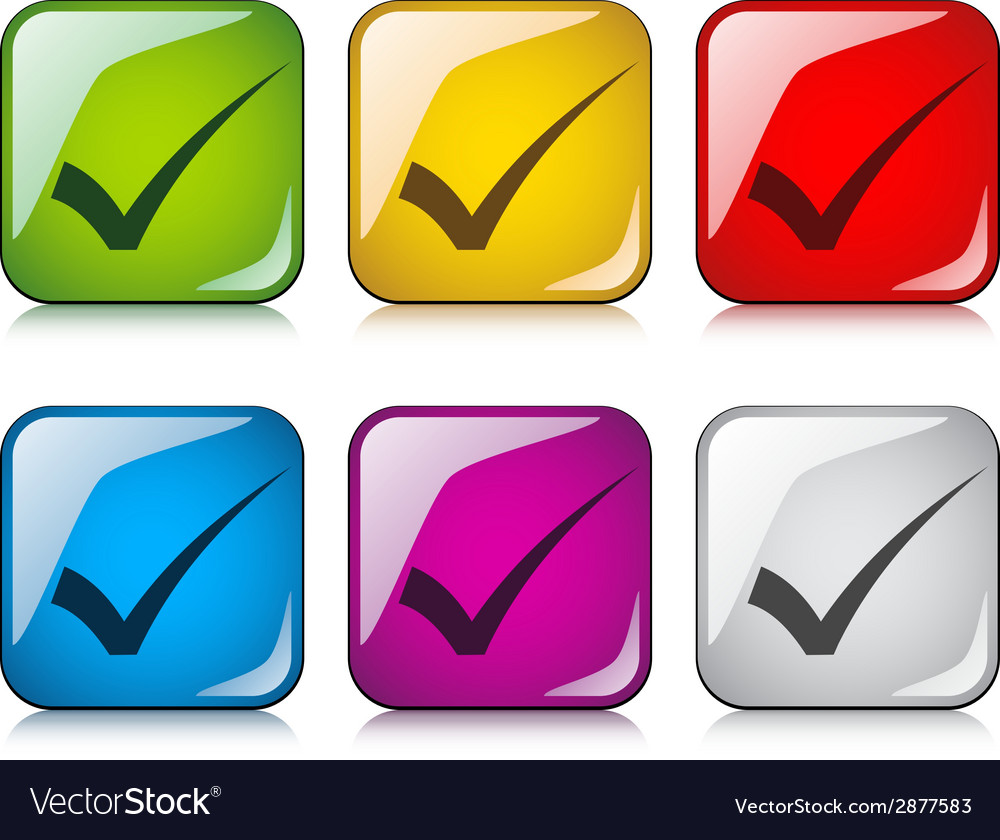 Positive checkmarks vector | Price: 1 Credit (USD $1)