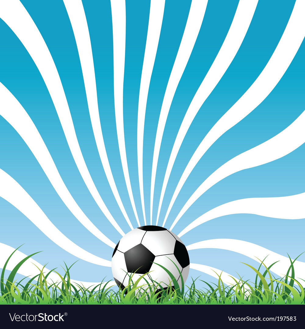Soccer ball on the grass vector | Price: 1 Credit (USD $1)