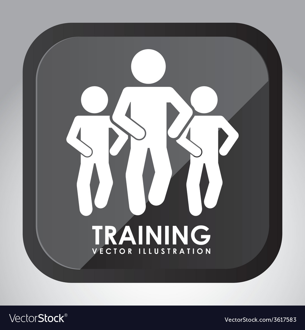 Training button design vector | Price: 1 Credit (USD $1)