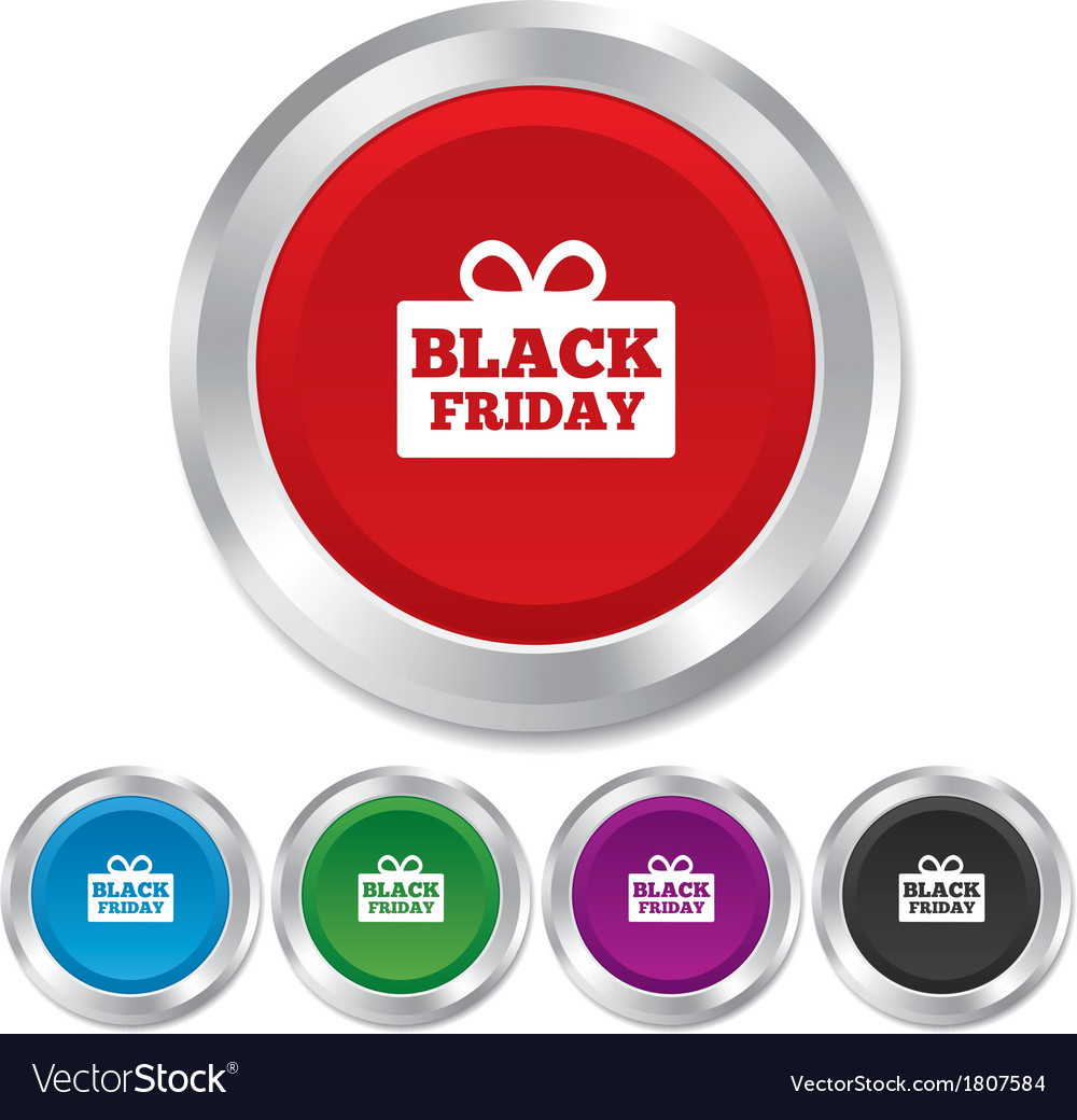 Black friday gift sign icon sale symbol vector | Price: 1 Credit (USD $1)