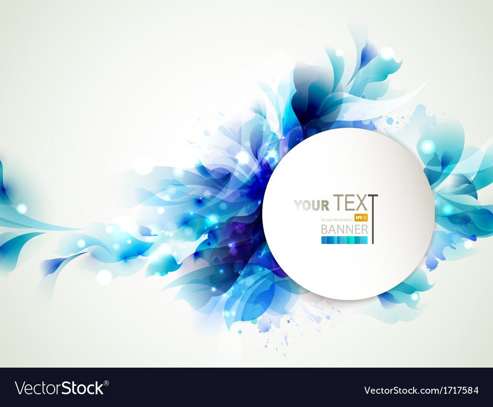 Blue elements vector