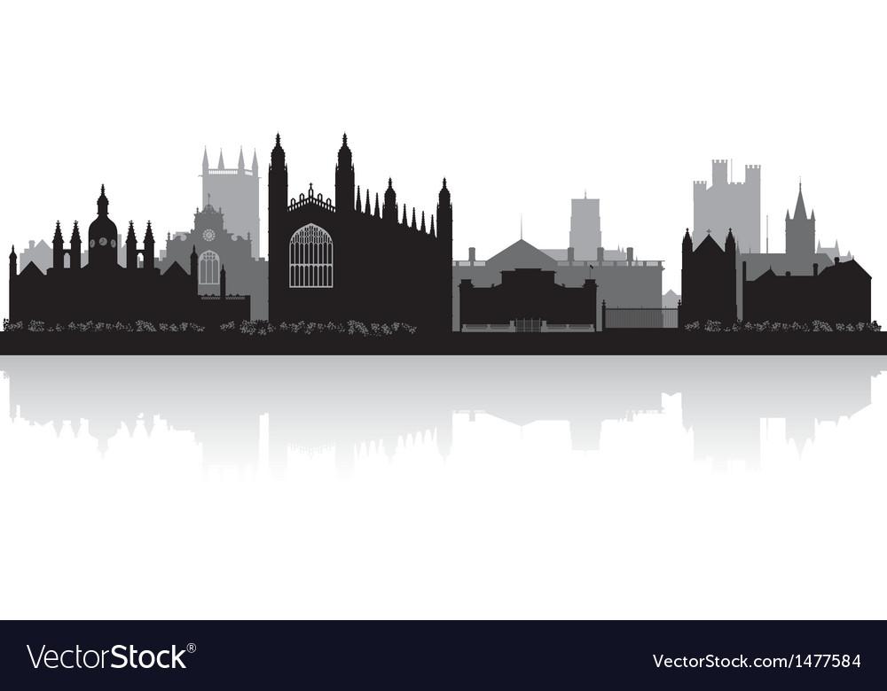 Cambridge city skyline silhouette vector | Price: 1 Credit (USD $1)