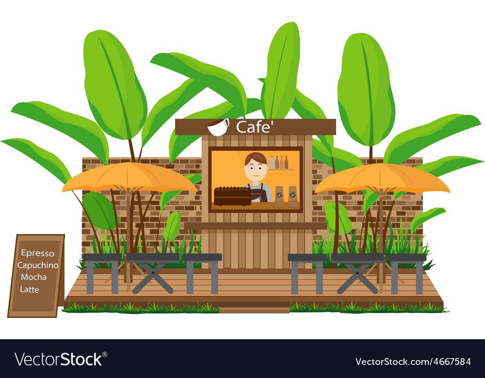 Coffee shop outdoor vector | Price: 1 Credit (USD $1)