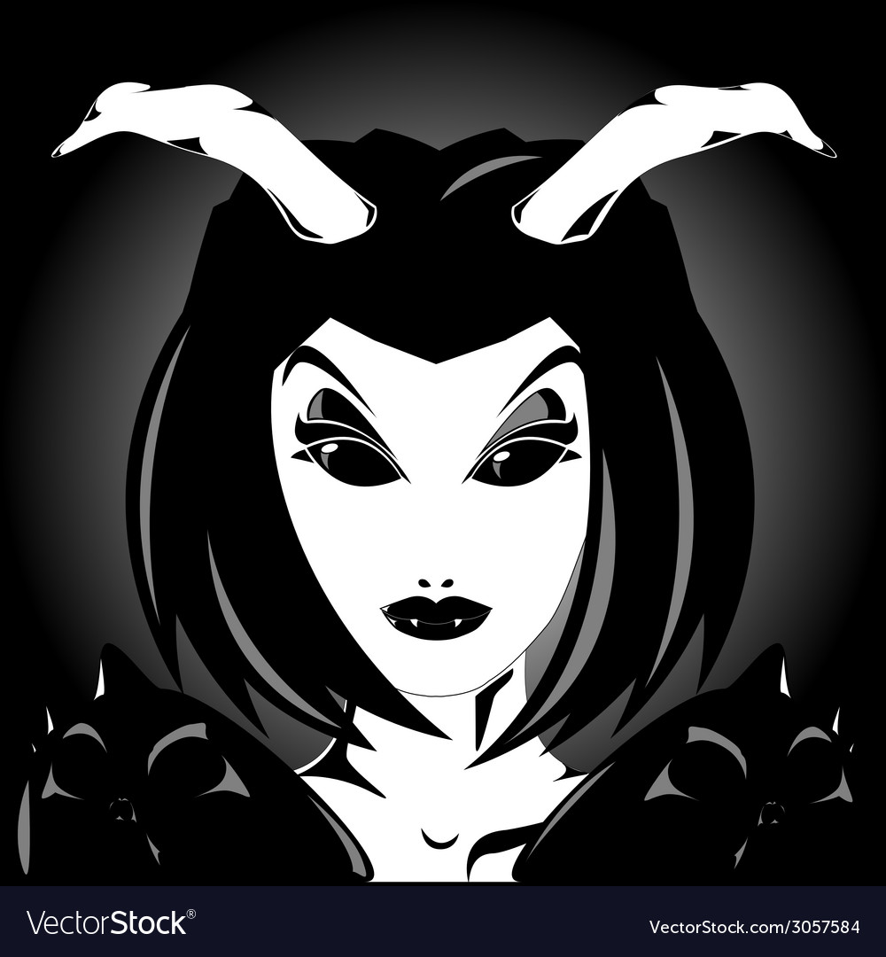 Demon girl vector | Price: 1 Credit (USD $1)