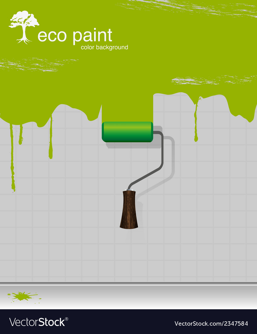 Drawing eco paint-roller vector | Price: 1 Credit (USD $1)