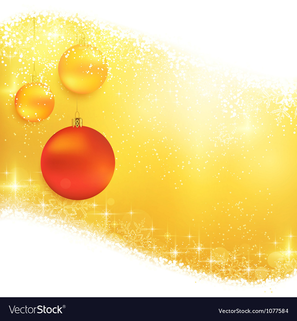 Golden sparkling christmas background with hanging vector | Price: 1 Credit (USD $1)