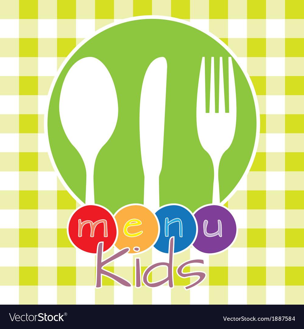 Menu kids vector | Price: 1 Credit (USD $1)