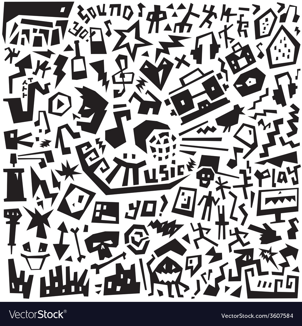 Music - doodles set vector | Price: 1 Credit (USD $1)