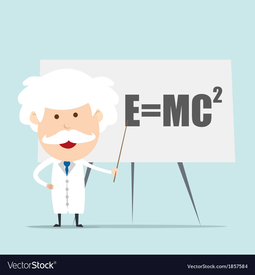Professor and scientist presenting einstein vector | Price: 1 Credit (USD $1)