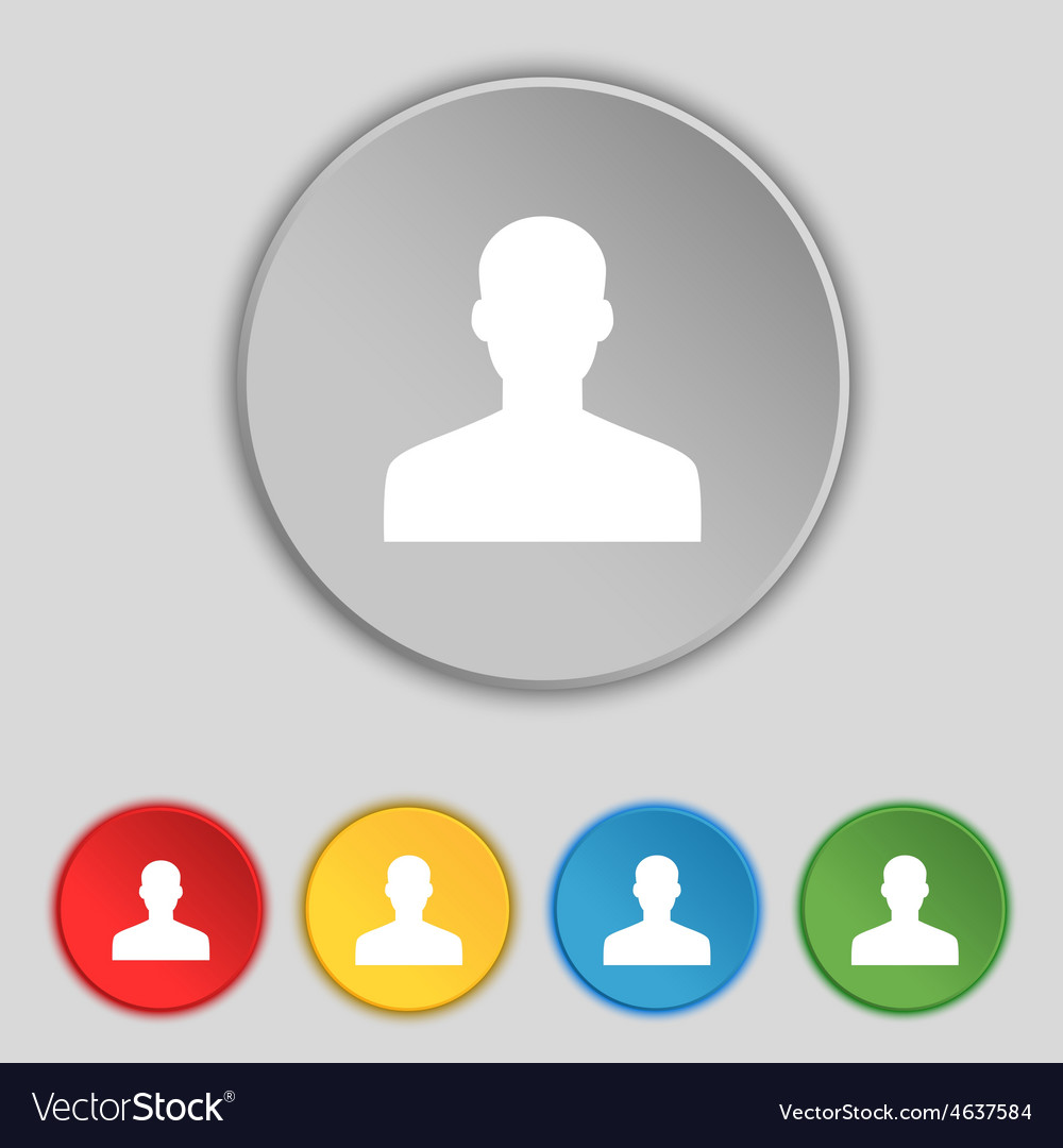 User person log in icon sign symbol on five flat vector   Price: 1 Credit (USD $1)
