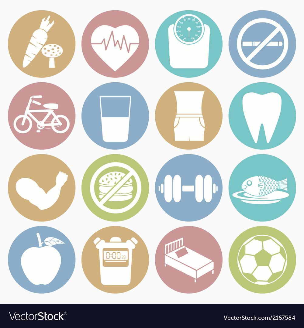 White icons health vector | Price: 1 Credit (USD $1)