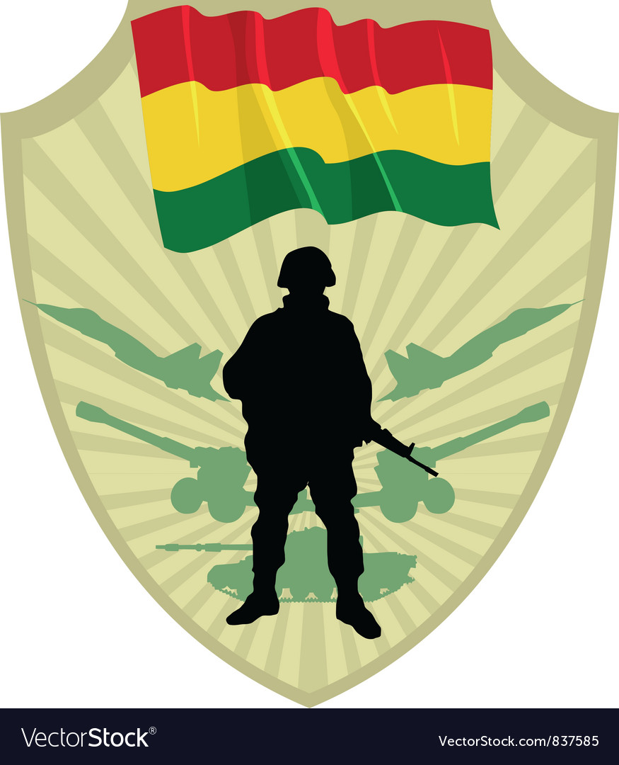 Army of bolivia vector | Price: 1 Credit (USD $1)