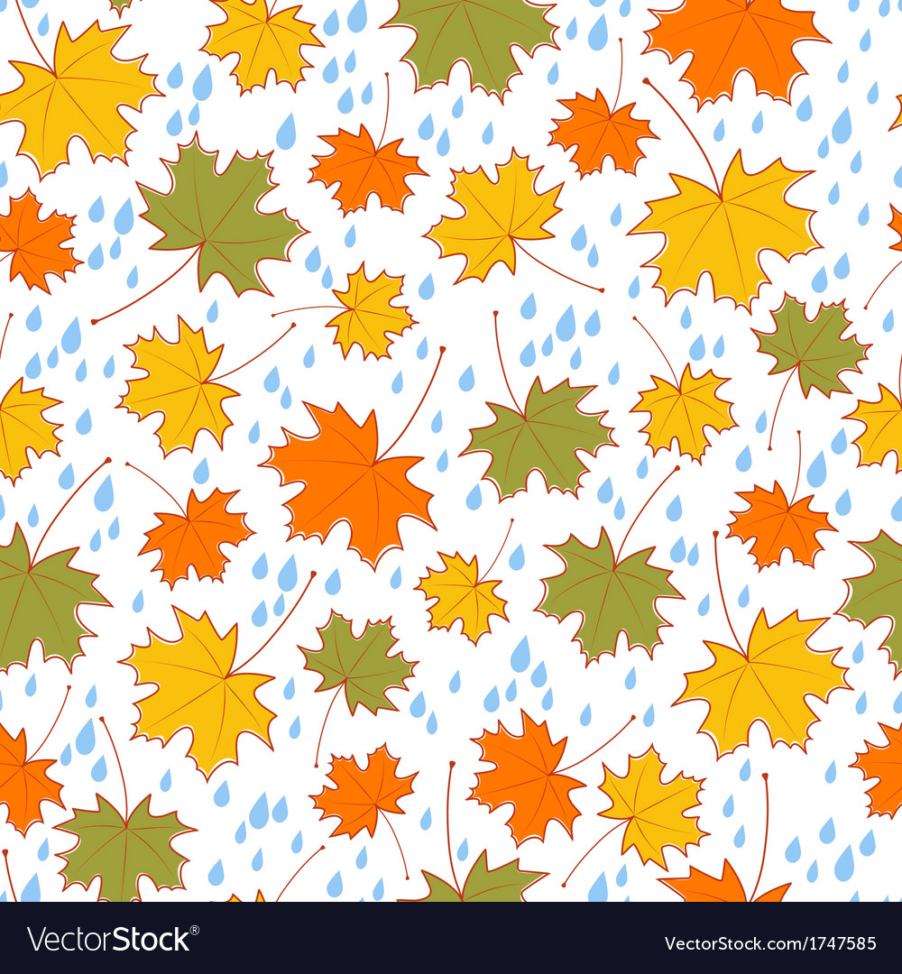 Autumnal seamless background vector | Price: 1 Credit (USD $1)