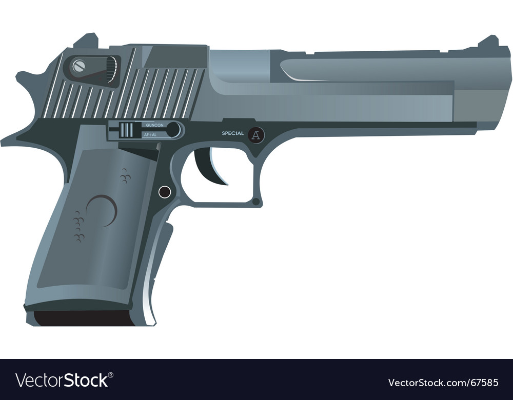 Desert eagle vector | Price: 1 Credit (USD $1)